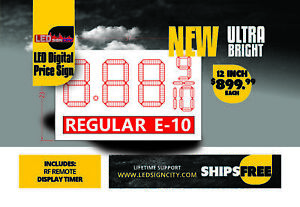 12 Inch Led Digital Price Sign With Led Lit Description Below The Digit ldps