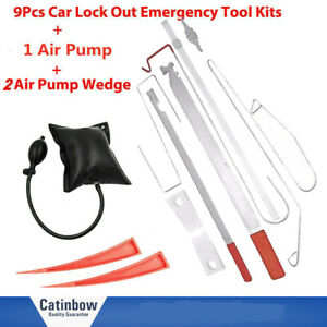 12pcs Door Key Lock Out Emergency Opening Unlock Tool Kit W Air Wedge For Car
