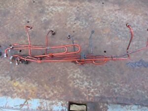 1975 1370 Case Diesel Farm Tractor Fuel Injector Lines Free Shipping
