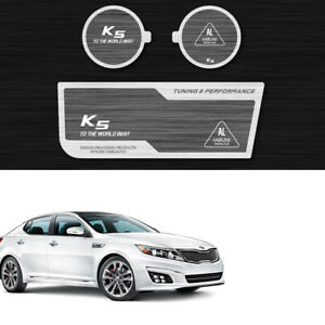 Aluminum Hairline Two Block Cup Holder Console Plate 3p Kia Optima 2011 2015 K5