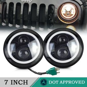 2pcs Sealed Beam Led Headlight Lamp Set For Gmc Jimmy Suburban 7 Round Hi lo