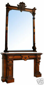 Antique Victorian Mantle And Over Mirror 5709