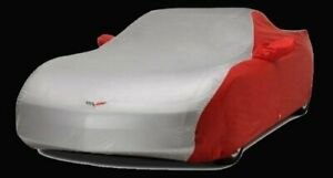 C6 Corvette Car Cover 2 Tone With Embroidered Logo 2005 2013