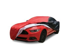 Ford Mustang Car Cover Ultraguard 2 tone Red black Stretch Satin 2015 2020