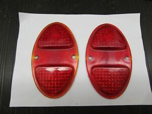 Vintage 1931 32 Chevy 1931 41 Chevy Truck Red Glass Tail Light Lens Set Lynx 323