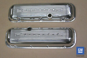 Chevrolet 396 427 454 502 Big Block Valve Covers With Raised Logo Polished Pml