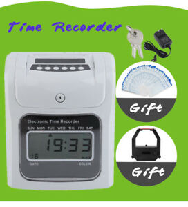 Office Employee Attendance Digital Time Clock 50 Thermal Card Payroll Recorder