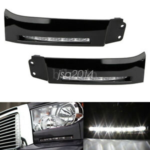 2pcs Led Bumper Built in Drl Fog Lights Driving Lamps For 2007 13 Toyota Tundra