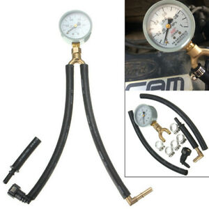 Universal Car Fuel Injection Pressure Gauge Tester 0 1 1 Mpa Meter W Fittings