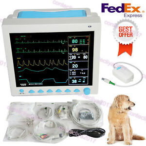 Portable Veterinary Icu Vital Signs Patient Monitor 6 Parameters cms8000 Vet co2