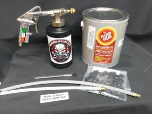 1 Gallon Fluid Film Pro Undercoating Gun Straight 1 360 Hose 1 empty Bottle