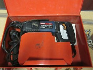 Bosch Bulldog 11212vrs Rotary Hammer Drill With Metal Case 25 Bits