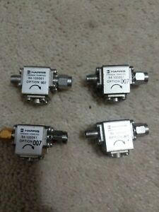Lot Of 4 Harris Farinon Ferrites 94 105061 Option 007 Isolator 10ghz Ferrites