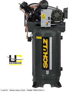 Air Compressor Single Phase 7 5 hp 80 gallon Two stage