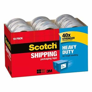 Heavy duty Packaging Tape Cabinet Pack 1 88 X 54 6yds 3 Core 18pk Free Ship