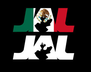Jalisco Letters Decal Car Window Laptop Map Vinyl Sticker Mexico Jal