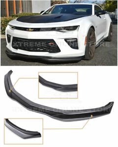 For 16 Up Camaro Ss V8 T6 Style Abs Plastic Unpainted Front Bumper Splitter Lip