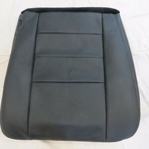 03 07 Ford F 250 350 Lariat Pickup Gas Driver Bottom Leather Seat Cover Black