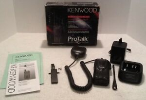 Kenwood Tk 3200 Protalk 2 Channel Uhf Radio W charger Battery Antenna Microphone