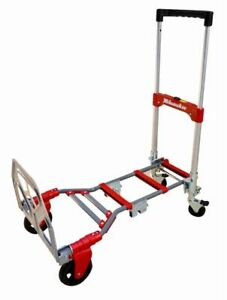 Milwaukee Folding Convertible Hand Truck Dolly Cart 300 Lb Capacity