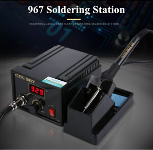 110 265v 967 Rework Soldering Station Iron Lcd Display Desoldering With Stand