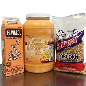 Popcorn Starter Pack 1 Gallon Coconut Oil 1 Carton Flavacol 2 Yellow Popc