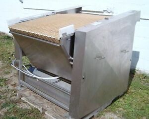 34 w X 52 l Stainless Steel Sanitary Intralox Extending Nose Conveyor