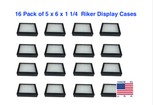 16 Pack Of 5 X 6 X 1 1 4 Riker Display Cases For Arrowheads Jewelry