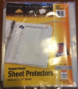 Avery Advantage Standard Weight Sheet Protectors 4 Packs 400 Sheets In Total