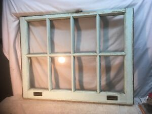 Vintage 6 Pain Window Sash Farm House Wood Frame 7in X 12in Glass Lot 1
