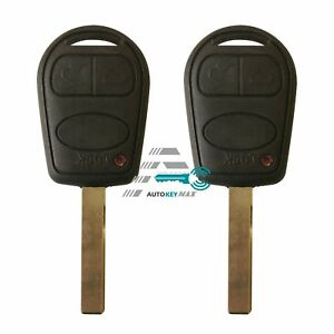 2 Remote Fob Key Shell Cover 3 Button For Land Rover Range Hover L322 Hse Vogue