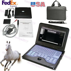 Veterinary Laptop Machine Digital Ultrasound Scanner 7 5 Rectal Probe usa Fedex