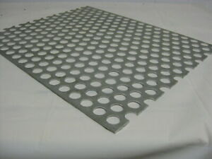 Perforated Metal Aluminum Sheet 125 1 8 12 X 48 3 4 Hole 1 Stagger 3003