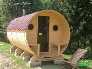 Barrel Sauna Kit For 6 Persons Harvia M3 Heater Free Upgrades Free Shipping