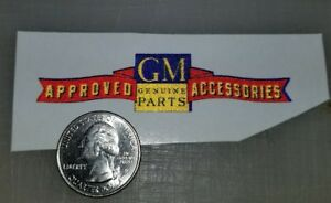Vintage Design Gm Approved Accessories Refelective Die Cut Decal High Quality 3