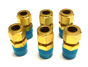 New Lot Of 6 Gyrolok 1 2 Coupling Fitting Brass