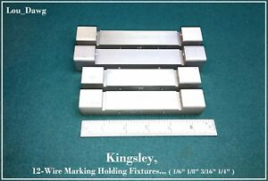 Kingsley Machine 4 wire Marking Holding Fixtures Hot Foil Stamping Machine