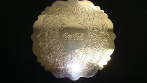 F B Rogers Silver Co 1883 690 Silverplate Trivet Engraved Coca Cola