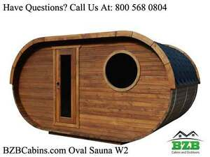 Outdoor Sauna Kit For 4 6 Persons 2 Rooms Harviam3 Heater Free Shipping New