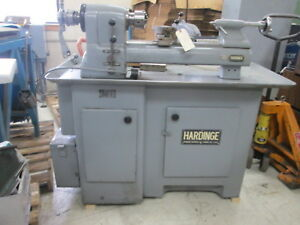 Hardinge High Speed 220 Volt 3ph Precision Lathe W 6 6 jaw Chuck W tailstock