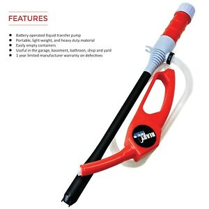 Fuel Transfer Water Liquid Gas Pump Siphon Battery Powered Heavy Duty Portable