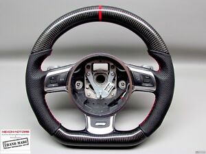 Audi Tt Tts Ttrs R8 Gt Red Ring Perforated Thicker Small Carbon Steering Wheel