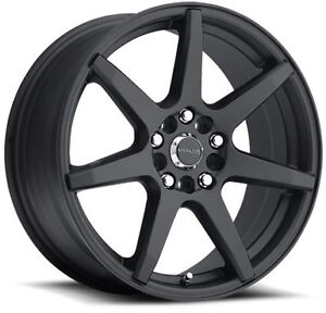 15x7 Raceline 131b Evo 5x100 5x114 3 Et40 Black Rims New Set 4