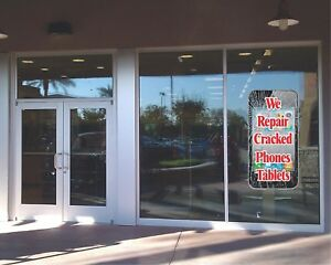 Cell Phone Repair Window Sticker Business Advertising Sales Professional