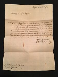 Letter From Agent Belvedere 1793
