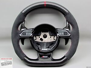 Audi Rs4 S4 S5 Rs5 Sq5 Rs6 Rs3 Cherry Ring Alcantara Small Carbon Steering Wheel