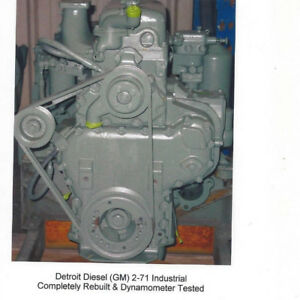 Detroit Diesel 2 71 Industrial Engine Rebuilt Dyno Tested