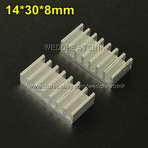 100pcs Brand New 14 30 8mm Extrusion Aluminum Heatsinks Cooler Radiation