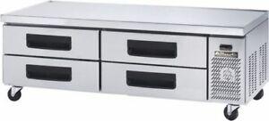 Blue Air Bacb74m 74 inch Refrigerated Equipment Stand Chef s Base 4 Drawers