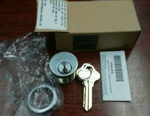 Schlage Everest C145 C123 Mortise Cylinder Lock Satin Chrome 626 1 1 8 Long New